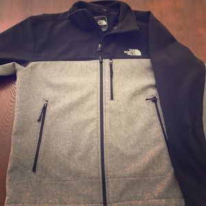 Medium Black and Grey two-toned Northface Jacket